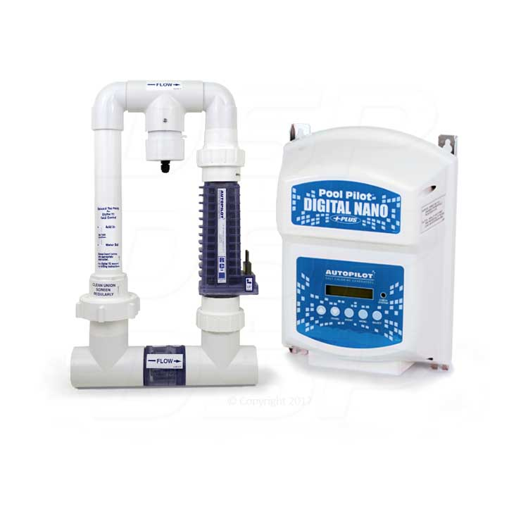 Autopilot Digital Nano Plus Ppc2 Saltwater Chlorinator For Up To 35 000 Gallon Salt Water Pools