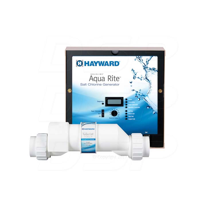 Hayward Aqua Rite With Turbocell T Cell 15 Saltwater Chlorinator For Up To 40 000 Gallons T15
