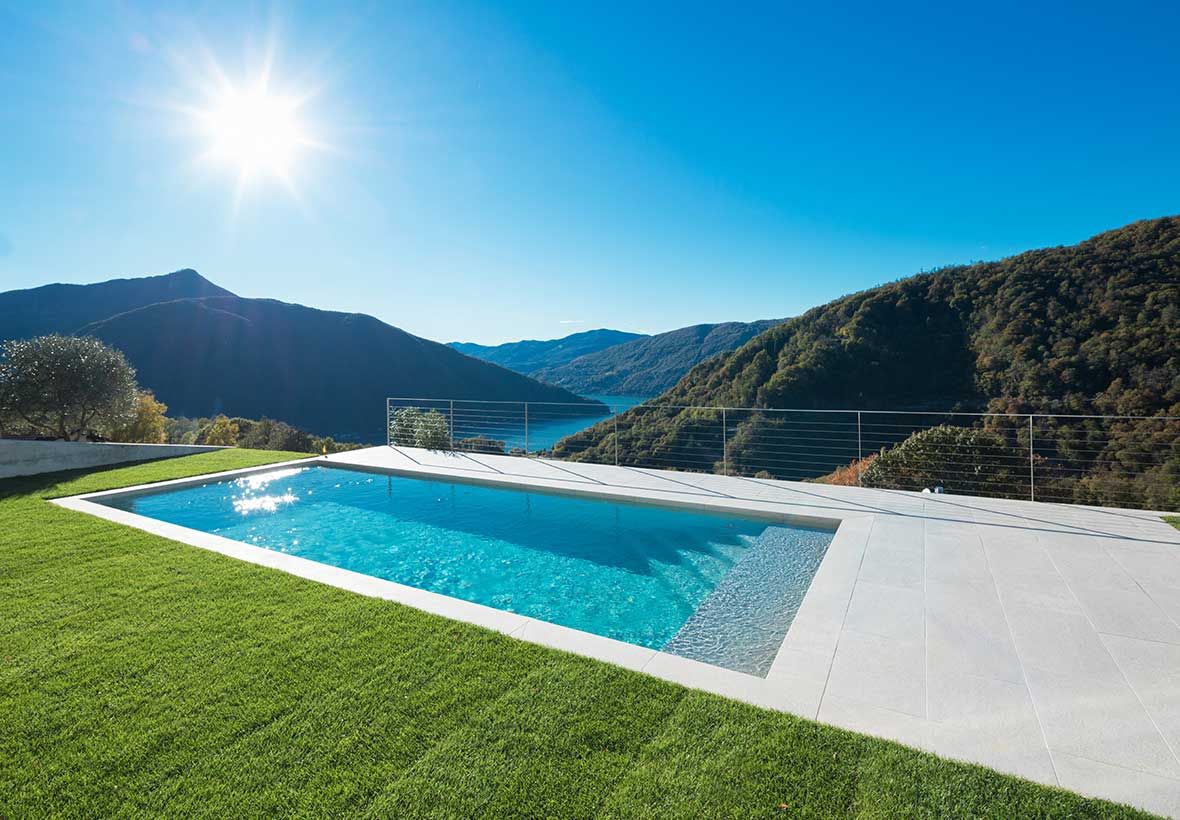 Salt pool systems create a beautiful pool