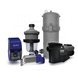 Ultimate Combo (Large Pools) - (RJ-45 PLUS Salt System, SmartFlo® 3.0 VS Pump, CJ2750 Filter, and TJ-16 Pre-Filter)